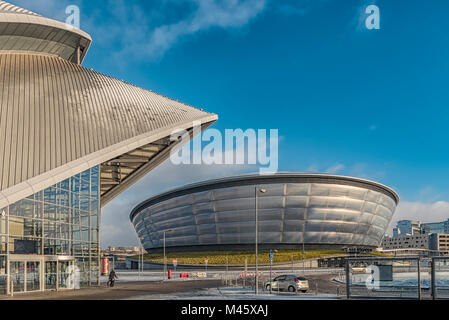 GLASGOW, SCOTLAND - JANUARY 17, 2018: A view of the SSE Hydro in Glasgow near to the river clyde. - Stock Photo