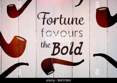 Composite image of fortune favours the bold words - Stock Photo