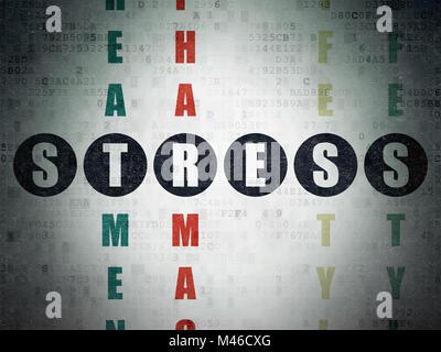 Medicine Concept Stress In Crossword Puzzle Stock Photo 130985494