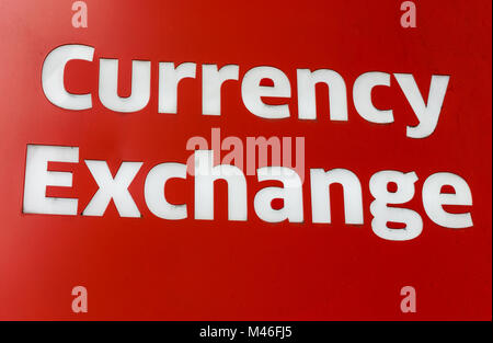 Currency exchange sign - Stock Photo