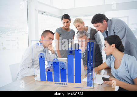Composite image of percentages graphical representation - Stock Photo