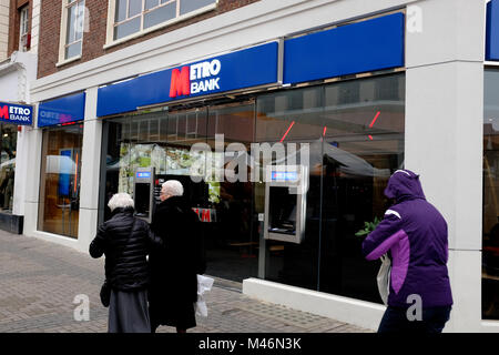 metro bank branch in the city of canterbury kent uk february 2018 - Stock Photo