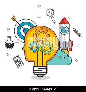 creative mind set icons vector illustration design - Stock Photo