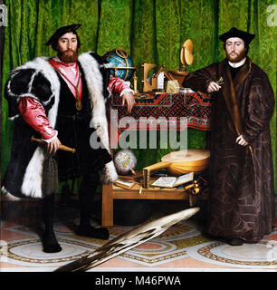 The Ambassadors by Hans Holbein the Younger - Stock Photo