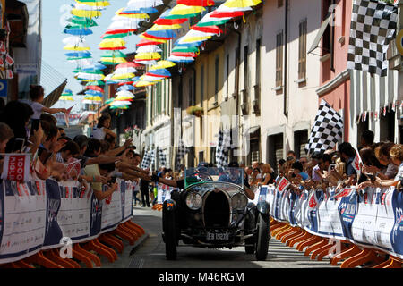Ospitaletto, Italy. 21th, May 2017.  Crew composed by Vanni Curridor  and Laurent Meyers (NL) with their model car, - Stock Photo