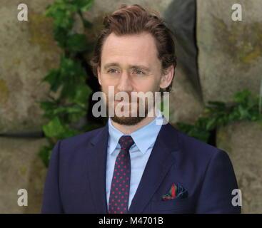 Early Man UK film premiere at the BFI IMAX, Waterloo, London  Featuring: Tom Hiddleston Where: London, United Kingdom - Stock Photo