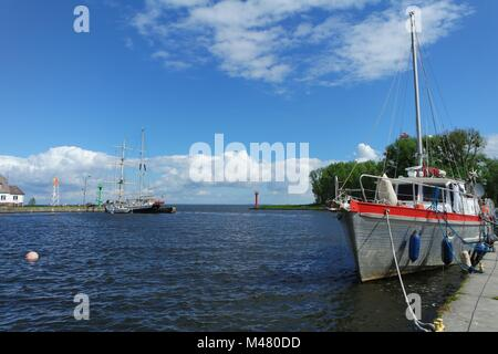 The West Pomeranian Sailing Route, Trzebiez - Stock Photo