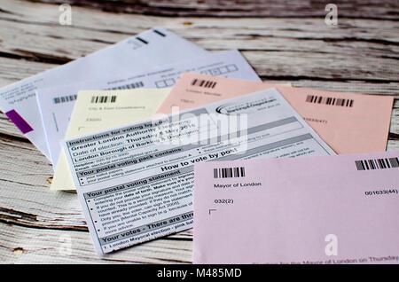 postal voting London UK - Stock Photo