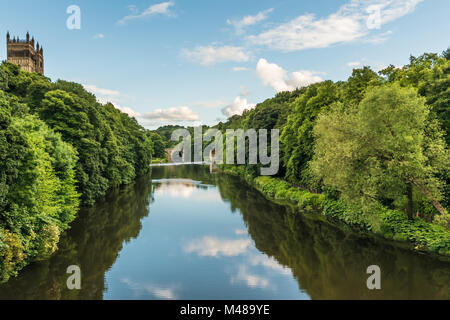 Durham - River Wear in the Evening - Stock Photo