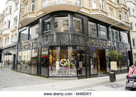 luxury fashion GUCCI store in central Luxembourg - Stock Photo