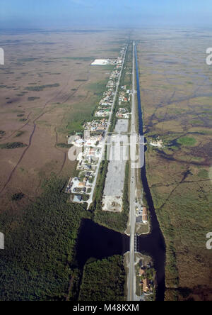 Everglades Restoration Just W of SV Hwy Miccosukee, , . - Stock Photo