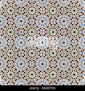 oriental mosaic background, morocco wall tiles - Stock Photo