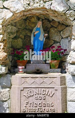 Queen of Peace Grotto Seebach Black Forest Germany - Stock Photo