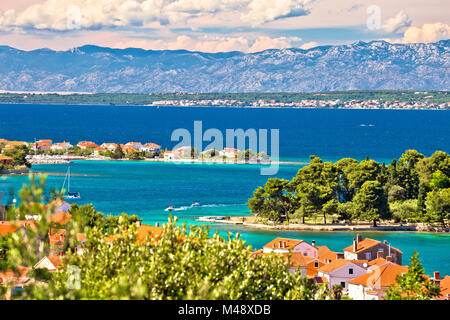 Zadar islands archipelago and Velebit mountain view - Stock Photo
