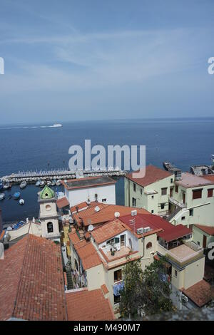 Fishing town Marina Grande in Sorrento - Stock Photo