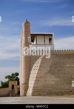 Ark fortress gate in Bukhara, Uzbekistan - Stock Photo