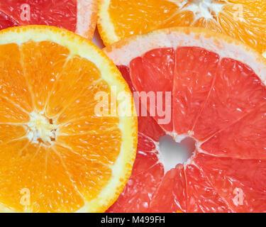 background with citrus-fruit of Fresh  slices - Stock Photo
