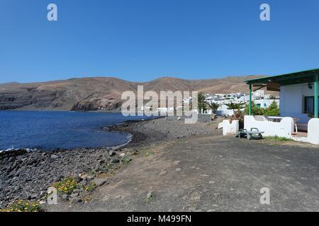 Fishing village of Playa Quemada, Lanzarote - Stock Photo