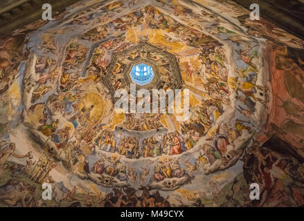 The Cupola of Duomo of Florence, Tuscany, Italy - Stock Photo