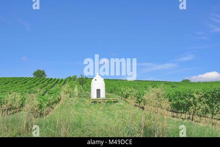 Trullo in Vineyard of Woellstein in Rhinehessen,Rhinekland-Palatinate,Germany - Stock Photo