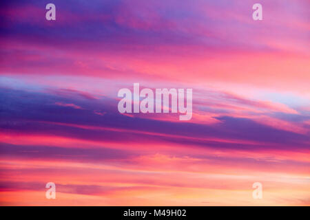 Cloudy sky at sunset Spain, colors background - Stock Photo