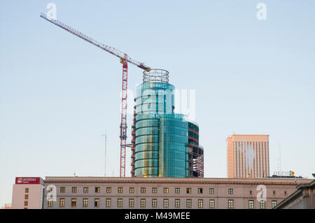 Titania Tower and Picasso Tower from Nuevos Ministerios. AZCA, Madrid, Spain. - Stock Photo