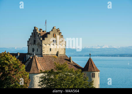 Meersburg Castle,also known as Old Castle,Meersburg,Lake Constance,Baden-Württemberg,Germany - Stock Photo