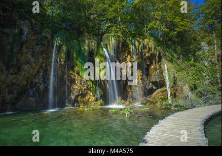 Plitvice Lakes National Park, Croatia. UNESCO world heritage site. - Stock Photo