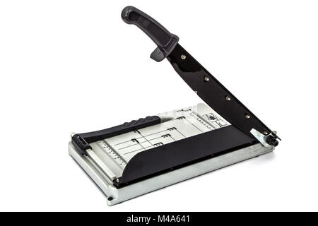 Cutter for a paper, isolated on white background - Stock Photo