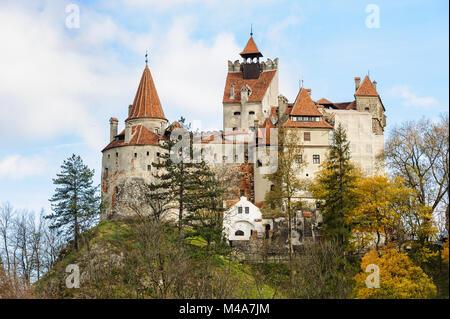 Bran Castle, Brasov, Transylvania Romania. - Stock Photo