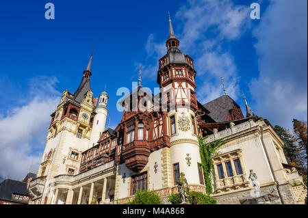 Peles Castle in Sinaia, Romania - Stock Photo