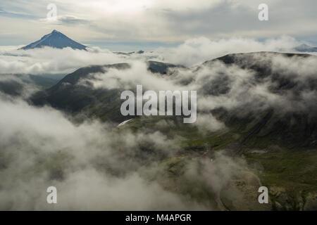 Vilyuchinsky stratovolcano. South Kamchatka Nature Park. - Stock Photo