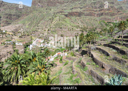 Typical landscape in the Valle Gran Rey - Stock Photo