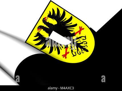 3D Flag of Friedberg (Friedberg in der Wetterau)