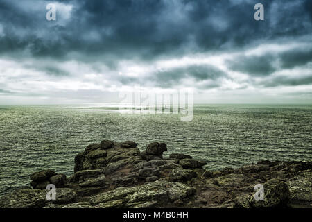 Lands End Peninsula in Cornwall - Stock Photo