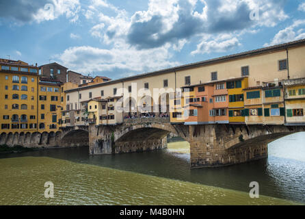 Ponte Vecchio or Old Bridge in Florence, Italy - Stock Photo