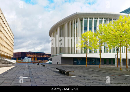 Luxembourg,philharmonic concert hall,Place de l'Europe,European district,Luxembourg City, - Stock Photo