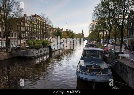 The Netherlands,Holland,Amsterdam,Prinsengracht - Stock Photo