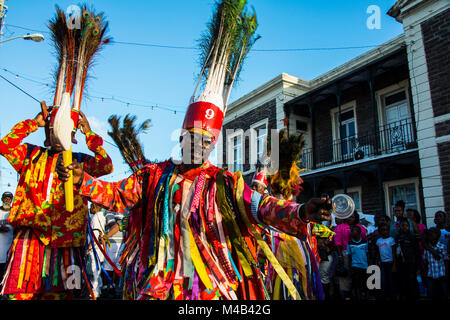 Carnival in Basseterre,St. Kitts and Nevis,Carribean - Stock Photo