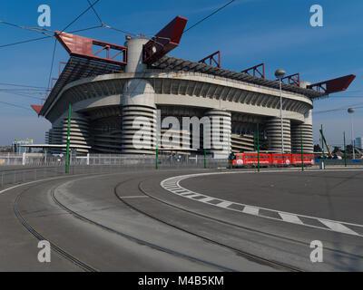Stadio Giuseppe Meazza, Milan, Lombardy, Italy. - Stock Photo