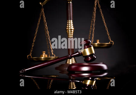 Judge's Gavel and scales of justice.Law and justice concept. Law and justice symbols composition. Legal office. - Stock Photo