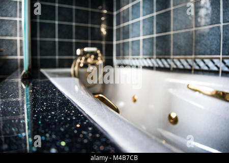 Luxury Bathroom with Hot Tub - Stock Photo