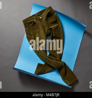 Men's casual outfits with man clothing and accessories - Stock Photo
