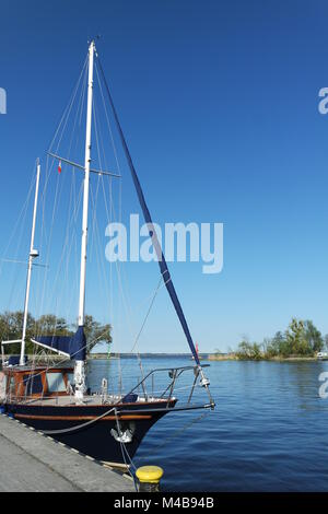 Sailing boat at the lagoon - Stock Photo
