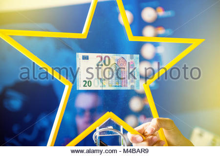 New 20 Euro banknotes bill currency money paper European - Stock Photo