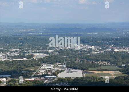 View of Chattanooga In Tennessee, from the Incline Railway - Stock Photo