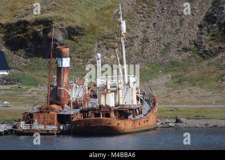 Grytviken, South Georgia - Stock Photo