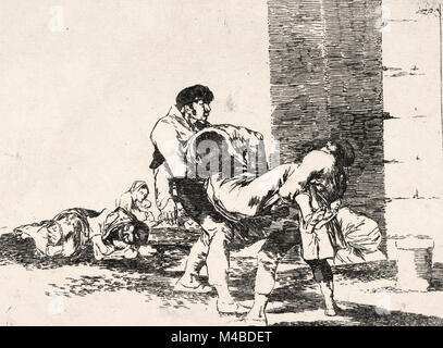 Francisco de Goya y Lucientes - To the Cemetery, from The Disasters of War - Stock Photo