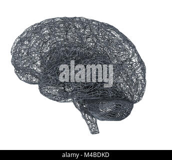 3d brain illustration - Stock Photo