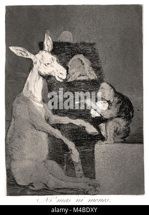 Francisco de Goya - Neither more or less 1799. Plate 41 of Los caprichos. - Stock Photo